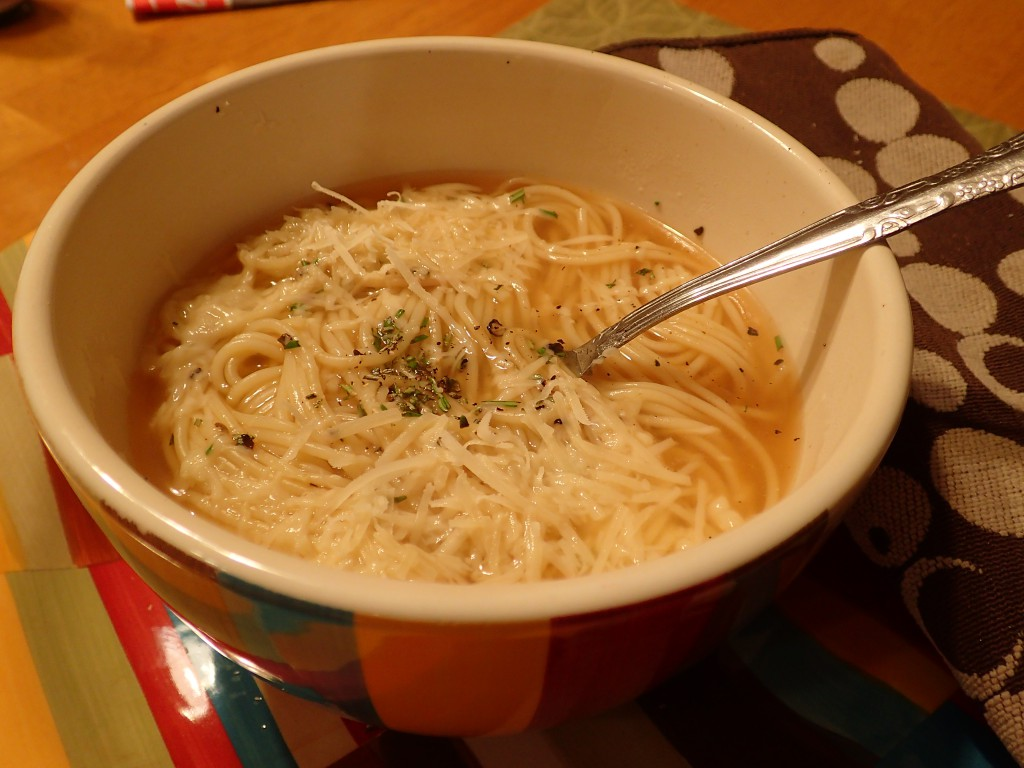 Angel Hair Pasta Soup