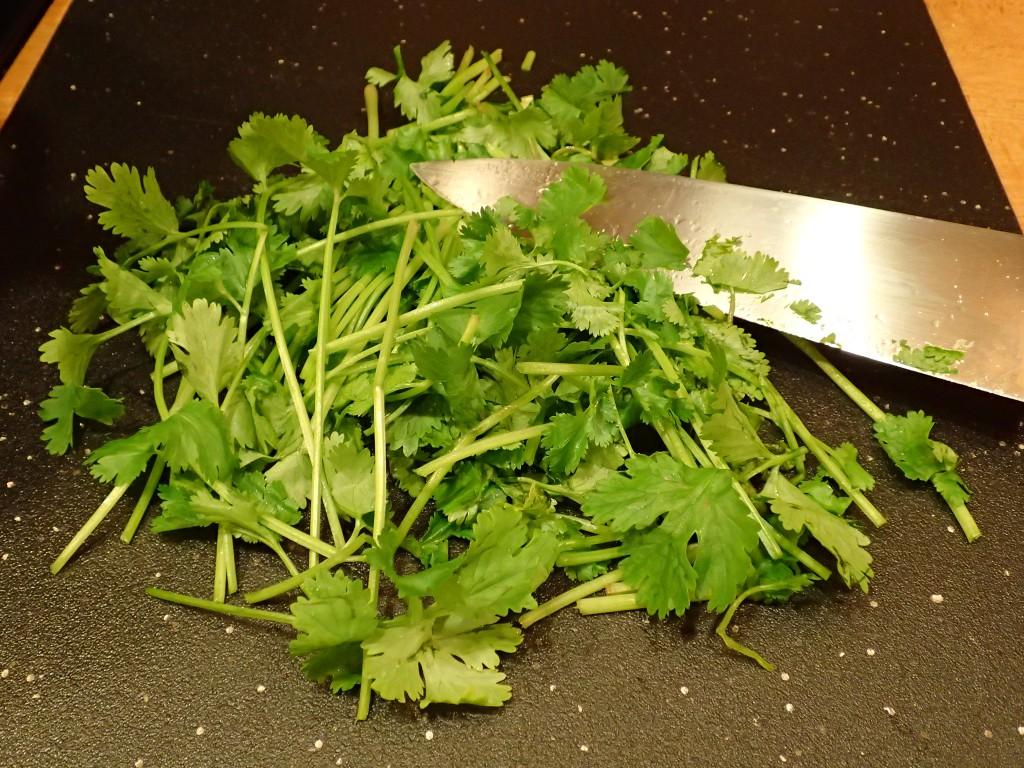 Add cilantro