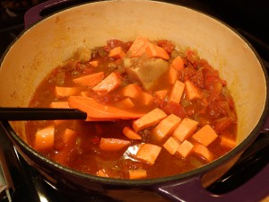Add sweet potatoes