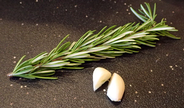 Rosemary and garlic