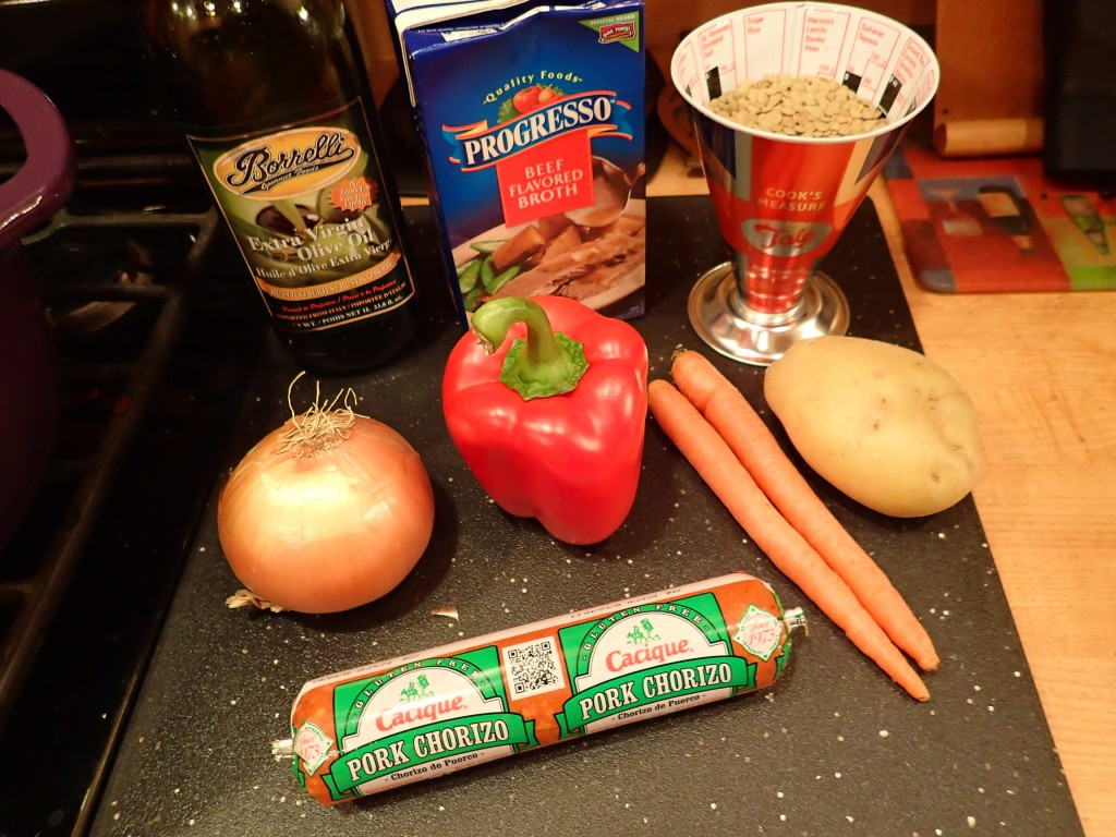 Chorizo Lentil Soup Ingredients