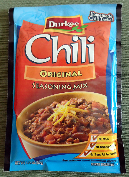 Durkee Chili Seasoning Mix, front