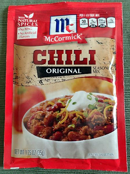 McCormick Chili Mix, Front