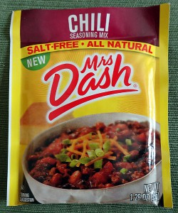 Mrs. Dash Chili Seasoning Mix, Front