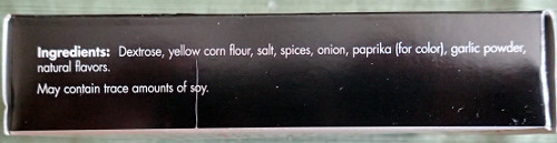 Tempo Chili Mix Ingredients