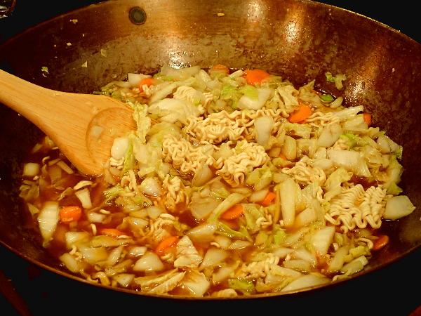 Cook Ramen noodles until tender