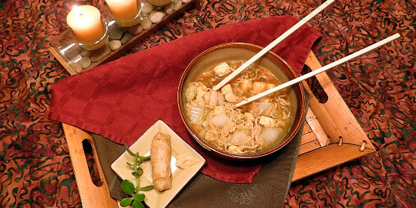Hot and Sour Chinese Ramen Tofu Vegetable Soup