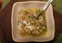 Greek Meatball Lemon Rice Soup
